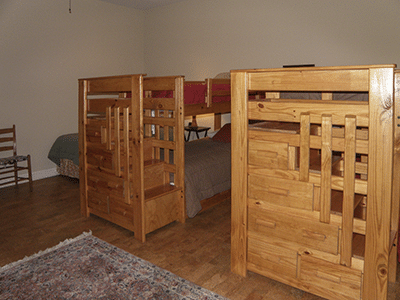 Available Bunk Room for Six (not included in price)